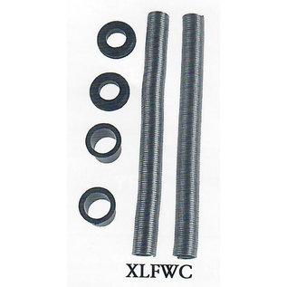 Specialty Power Windows - Door Conduit - XL Flexible Stainless Steel With Billet Bushings (pair) - XLFWC-BA