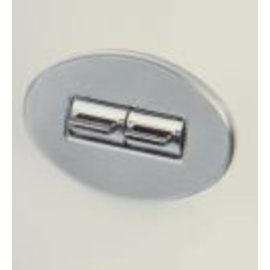 Specialty Power Windows - Quad Switch - Custom Alum. Bezel - Oval Smooth - AB-04 O BM