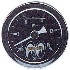 Mooneyes Mooneyes Pressure Gauge 0-15 LBS - MPG110LF
