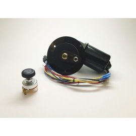 New Port Engineering 1960-66 CHEVY/GMC TRUCK WIPER MOTOR (ORIGINAL MOTOR FITS FLAT WITH FIREWALL) - NE6066CTF