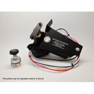 New Port Engineering 1946-48 DODGE AND PLYMOUTH WIPER MOTOR (CLEARS STOCK RADIO) / (REPLACES FACTORY ELECTRIC WIPER MOTOR) - NE4648MPRRE