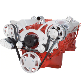 CVF Racing CVF Racing Small Block Chevy Wraptor Serpentine Kit - All Inclusive - Alternator Only - Electric Water Pump