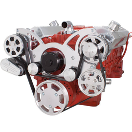 CVF Racing CVF Racing Small Block Chevy Wraptor Serpentine Kit - All Inclusive - AC, Power Steering & Alternator - Electric Water Pump