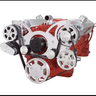 CVF Racing CVF Racing Small Block Chevy Wraptor Serpentine Kit - All Inclusive - AC, Power Steering & Alternator - Electric Water Pump