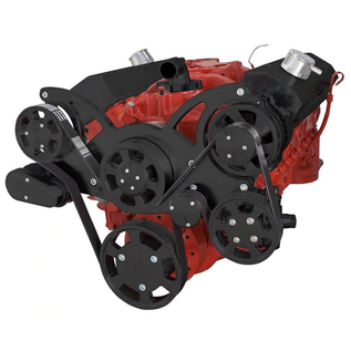 CVF Racing CVF Racing Small Block Chevy Wraptor Serpentine Kit - All Inclusive - Power Steering & Alternator - Mechanical Fan