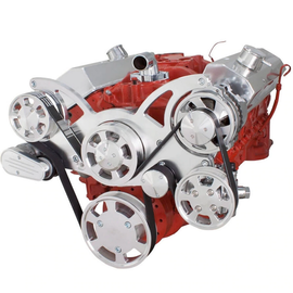 CVF Racing CVF Racing Small Block Chevy Wraptor Serpentine Kit - All Inclusive - Power Steering & Alternator - Mechanical Fan