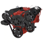 CVF Racing CVF Racing Small Block Chevy Wraptor Serpentine Kit - All Inclusive - Alternator Only - Electric Fan