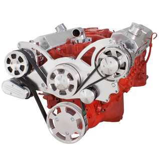 CVF Racing CVF Racing Small Block Chevy Wraptor Serpentine Kit - All Inclusive - AC & Alternator - Mechanical Fan