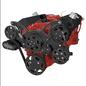 CVF Racing CVF Racing Small Block Chevy Wraptor Serpentine Kit - All Inclusive - Power Steering & Alternator - Electric Fan