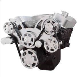 CVF Racing CVF Racing Big Block Chevy Wraptor Serpentine Kit - All Inclusive - Power Steering & Alternator - Mechanical Fan