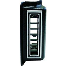 """Vintage Air Left Kick Panel Louver For 2.5"""" Hose Black w/ Chrome Accents - 49051-VUL"""