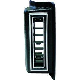 "Vintage Air Right Kick Panel Louver For 2.5"" Hose Black W/ Chrome Accents - 49151-VUL"