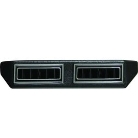 "Vintage Air Double Under Dash Louver Assembly w/ Single 2.5"" Inlet - Black w/Chrome Accent - 630190"