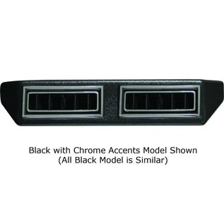"""Vintage Air Double Under Dash Louver Assembly w/ Single 2.5"""" Inlet - All Black - 633190"""