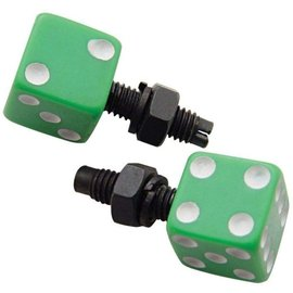 United Pacific Green Dice License Fasteners - #70072