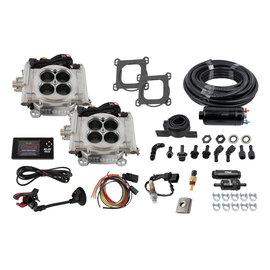 FiTech Go EFI 2x4 System (Bright Aluminum Finish) Master Kit w/Inline Fuel Pump - 31061
