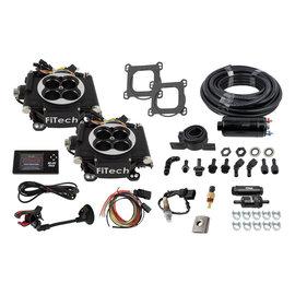 FiTech Go EFI 2x4 System (Black Finish) Master Kit w/Inline Fuel Pump - 31062