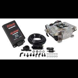 FiTech Go EFI 4 System (Bright Aluminum Finish) Master Kit w/ Inline Fuel Pump, w/CDI box - 93101