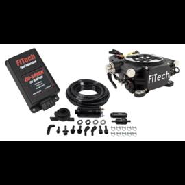 FiTech Go EFI 4 System (Black Finish) Master Kit w/ Inline Fuel Pump, w/CDI box - 93102