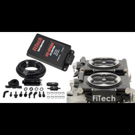 FiTech Go EFI 2x4 System (Black Finish) Master Kit w/ Inline Fuel Pump, w/CDI box - 93162