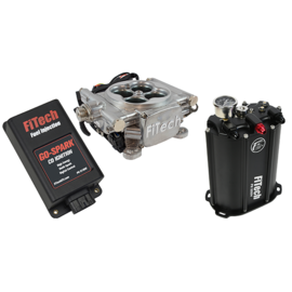 FiTech Go EFI 4 System (Aluminum Finish) Master Kit w/ Force Fuel, Fuel Delivery System, w/CDI box - 93501