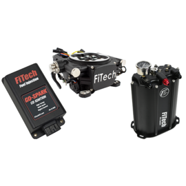 FiTech Go EFI 4 System (Black Finish) Master Kit w/ Force Fuel, Fuel Delivery System, w/CDI box - 93502