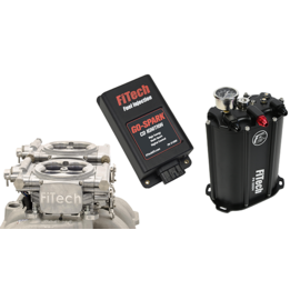 FiTech Go EFI 2x4 System (Aluminum Finish) Master Kit w/ Force Fuel, Fuel Delivery System, w/CDI box - 93561