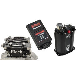 FiTech Go EFI 2x4 System (Black Finish) Master Kit w/ Force Fuel, Fuel Delivery System , w/CDI box - 93562