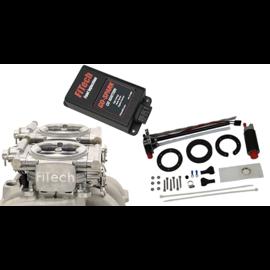 FiTech Go EFI 2x4 System (Aluminum Finish) Master Kit w/ In Tank Retrofit Kit-P/N 50015, w/CDI box - 93661