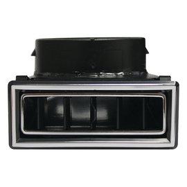Vintage Air 90 Degree Through Dash Louver- Black W/ Chrome Accents - 49066-VUL