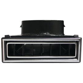 Vintage Air Large 90-Degree Through Dash Louver - Black W/ Chrome Accents - 49067-VUL