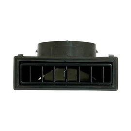 Vintage Air Large 90-Degree Through Dash Louver All Black - 49367-VUL