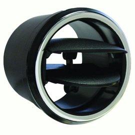 """Vintage Air Double Vane Adjustable Louver for 2.5"""" Hose Black W/ Chrome Bezel - 499194"""