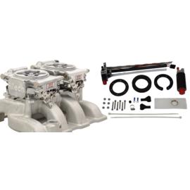 FiTech Go EFI 2x4 System (Aluminum Finish) Master Kit With In Tank Retrofit Kit-P/N 50015 - 36261
