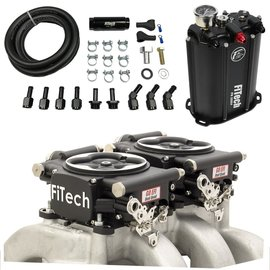 FiTech Go EFI 2x4 System (Black Finish) Master Kit w/ Force Fuel, Fuel Delivery System  - 35262