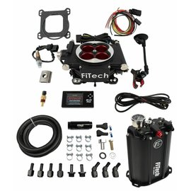 FiTech Go EFI 4 System (Power Adder) Master Kit w/ Force Fuel, Fuel Delivery System - 35204