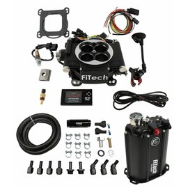 FiTech Go EFI 4 System (Black Finish) Master Kit w/ Force Fuel, Fuel Delivery System - 35202