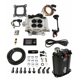 FiTech Go EFI 4 System (Aluminum Finish) Master Kit w/ Force Fuel, Fuel Delivery System - 35201