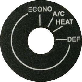 Vintage Air Mode Decal for Rotary Controls - 20559-VUP