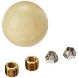 "Lokar 2 1/4"" IVORY SHIFT KNOB 3/8-16 THREAD - SK-6882"