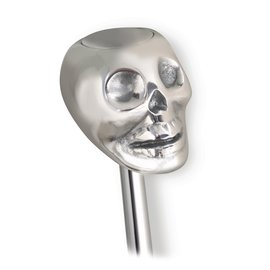 Lokar Aluminum Skull Shift Knob with Button