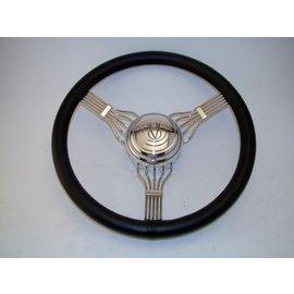 Affordable Street Rods Banjo Steering Wheel - Black