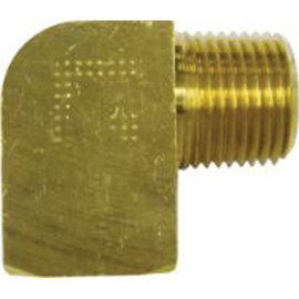 "Vintage Air 90 Deg Brass Tight Route 1/2"" NPT Accepts  1/2"" Hose Nipple - 18104-VUG"