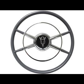 The Crestliner Steering Wheel - Black V8 - Standard 3 Hole - ST3031-3B