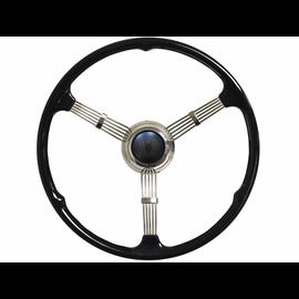 1935-37 Style Banjo Steering Wheel - Embossed V8 Button - ST3026-EV8
