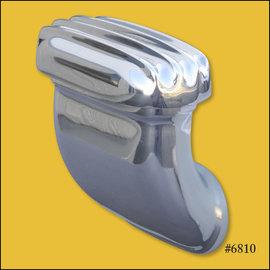 OTB Gear Finned 90° Breather - Polished - 6810