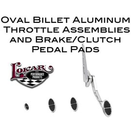 Lokar Oval Billet Aluminum Throttle Assemblies & Brake/Clutch Pedal Pads