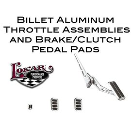 Lokar Billet Aluminum Throttle Assemblies & Brake/Clutch Pedal Pads