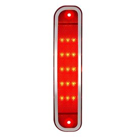 United Pacific 15 LED Front Side Marker Light W/ SS Trim - 73-80 Chevy & GMC Truck - Red - 110713