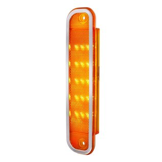 United Pacific 15 LED Front Side Marker Light With Stainless Steel Trim For 1973-80 Chevrolet & GMC Truck - Amber - 110712